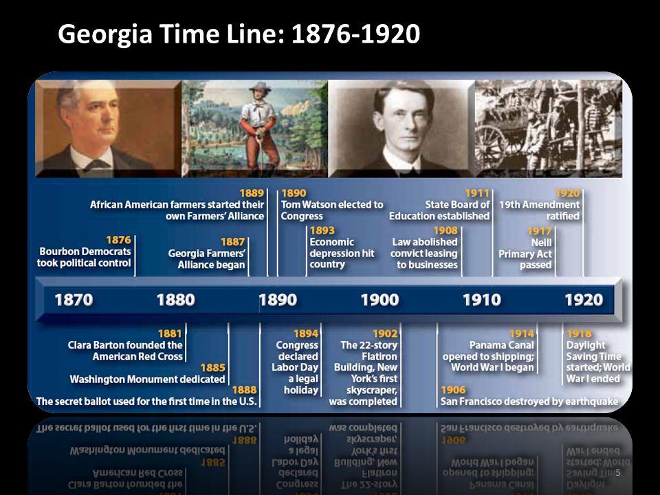 Georgia Time Line: 1876-1920 5