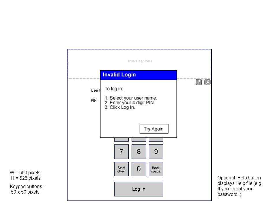 Student Roster Wide (full screen) Minimum (650 pixels) Columns are sortable Title bar options: Logout Exit