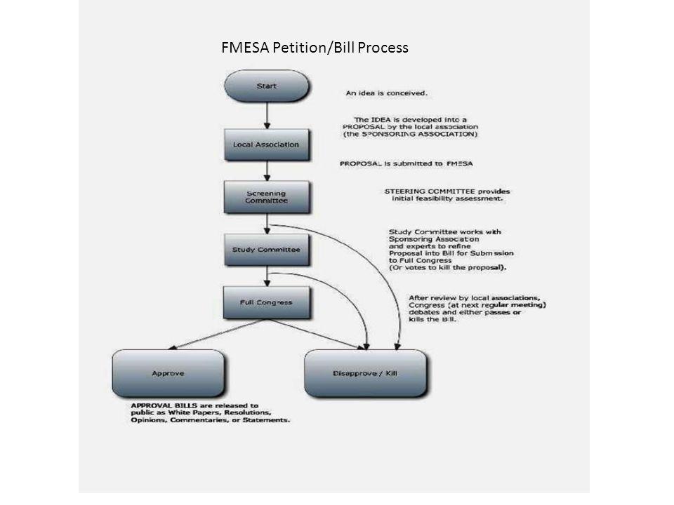 FMESA Petition/Bill Process