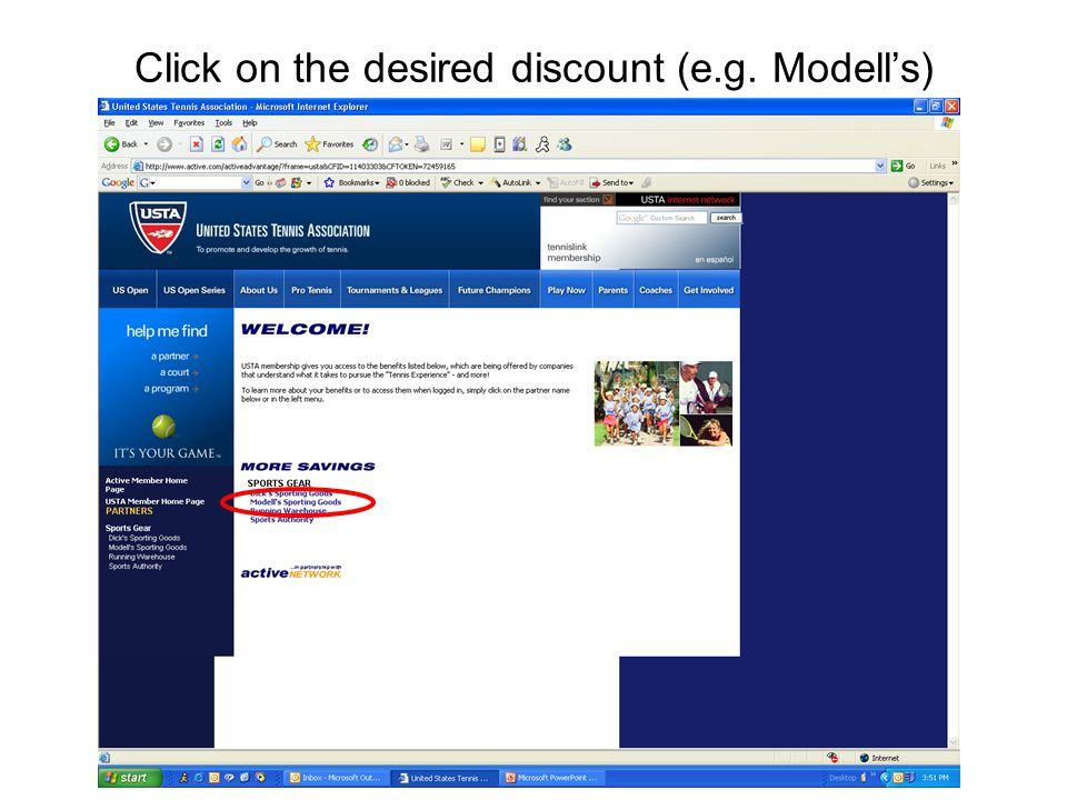 Click on the desired discount (e.g. Modell's)
