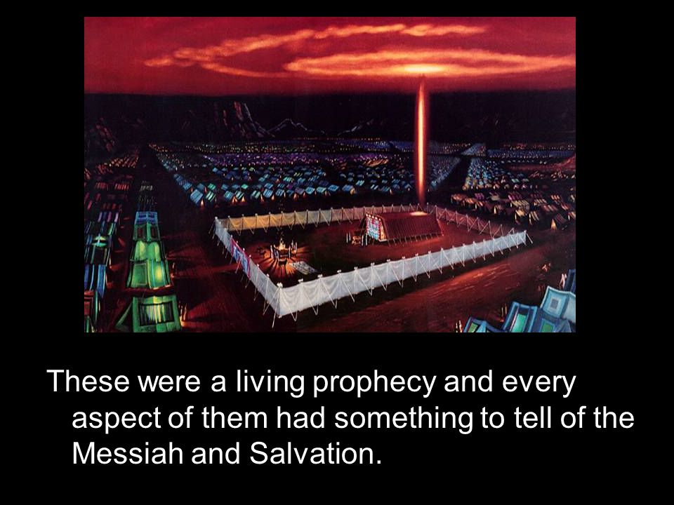 These were a living prophecy and every aspect of them had something to tell of the Messiah and Salvation.