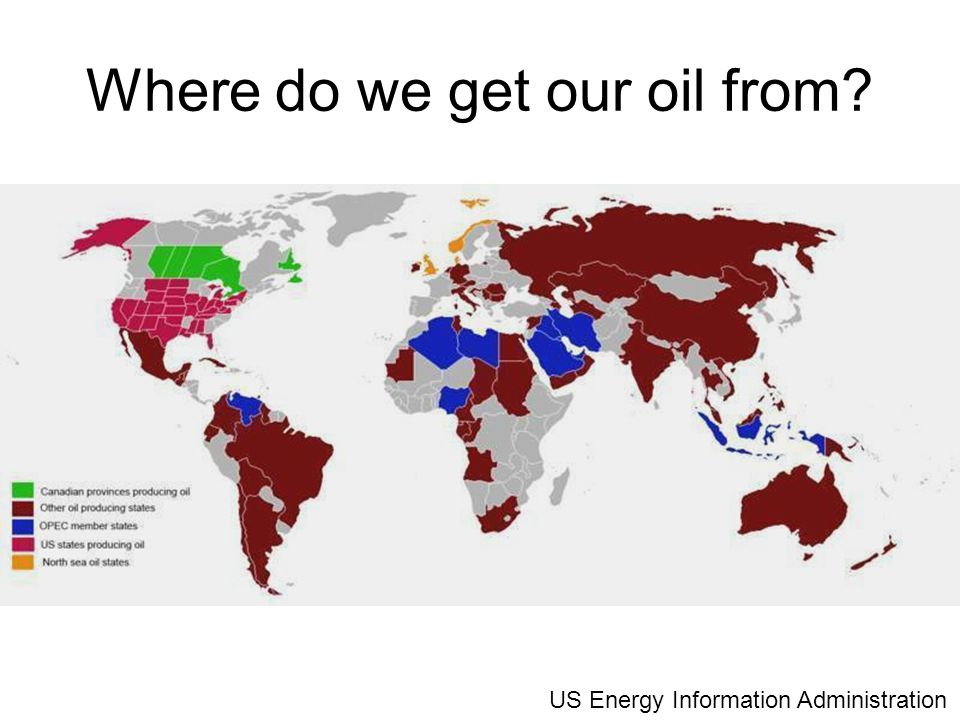 Where do we get our oil from US Energy Information Administration