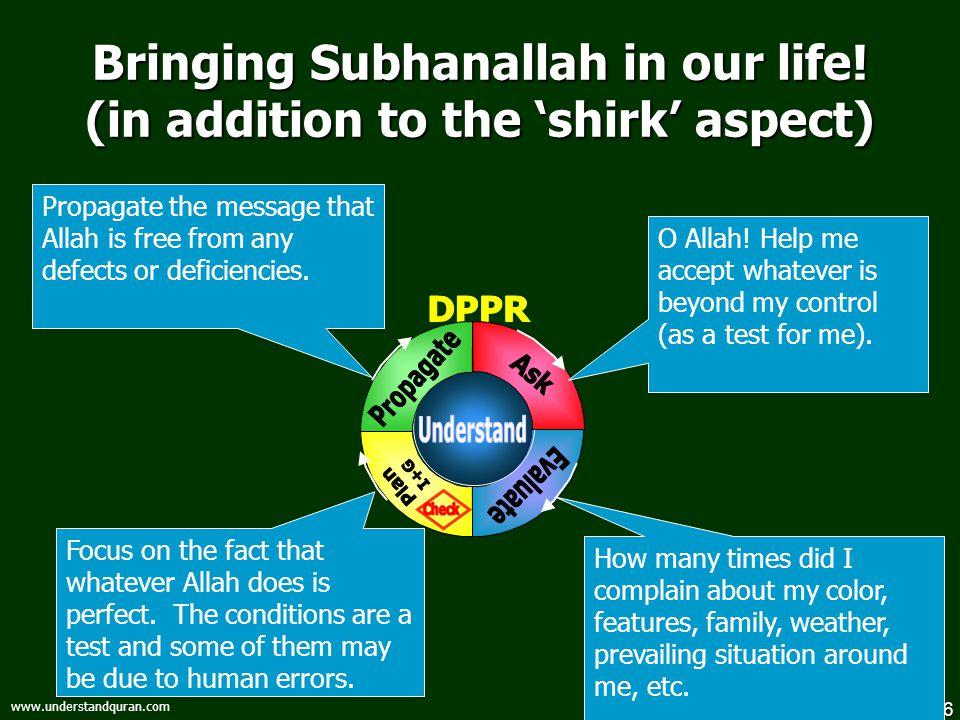 7 www.understandquran.com Bringing Alhamdulillah in our life.