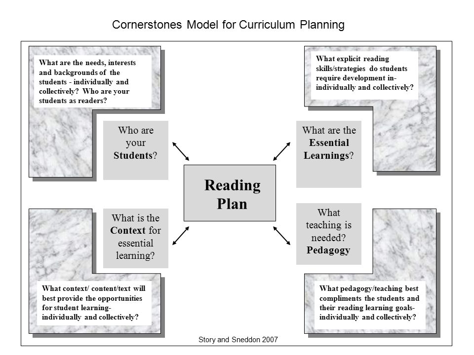Reading Plan What are the Essential Learnings. What teaching is needed.