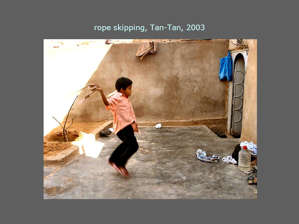 rope skipping, Tan-Tan, 2003