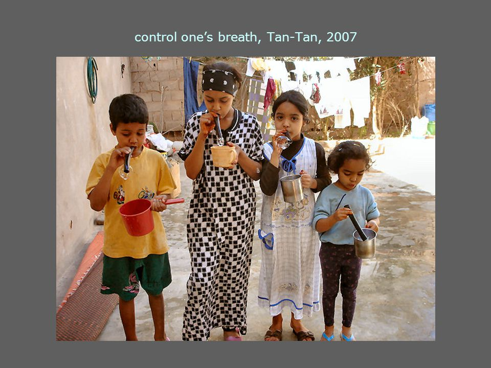 control one's breath, Tan-Tan, 2007