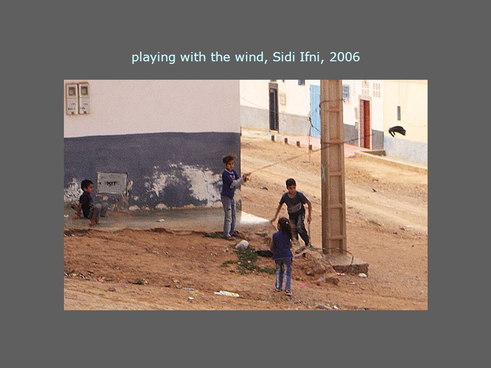 playing with the wind, Sidi Ifni, 2006