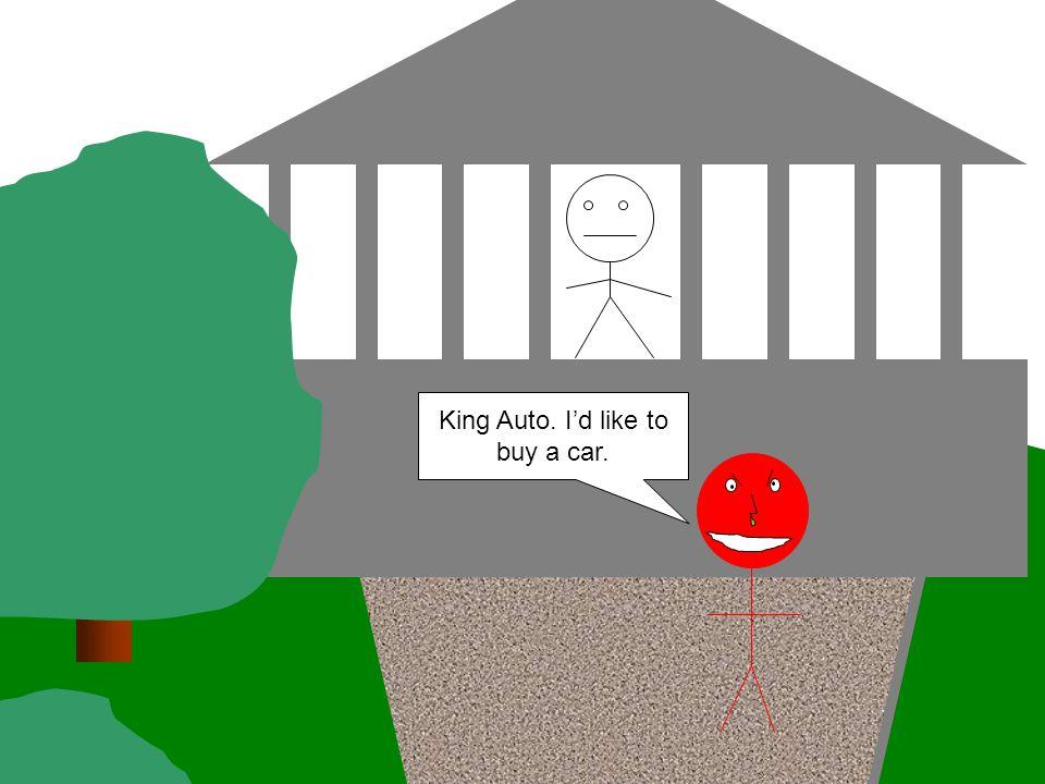 King Auto. I'd like to buy a car.