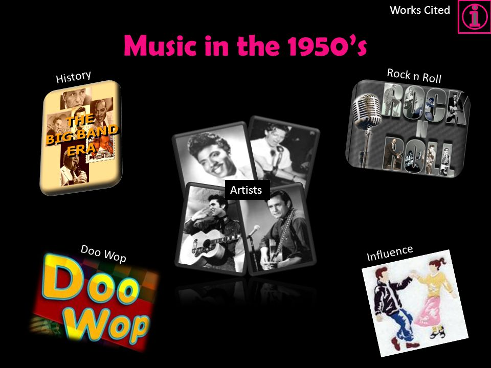 Brianna Kloes, Pd. 2 Music in the 1950's