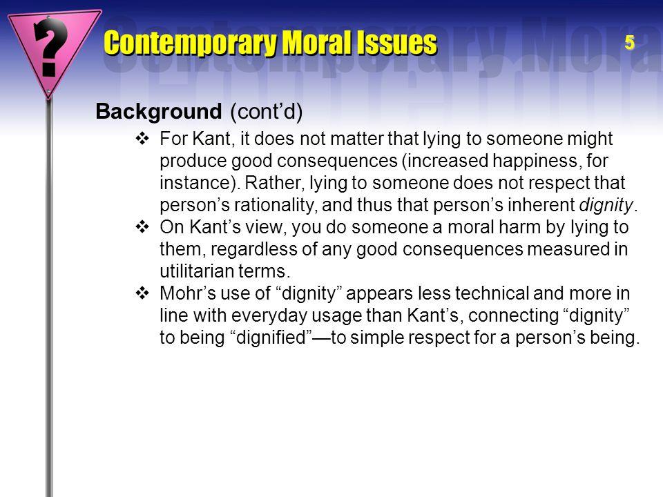 6 Mohr's Central Argument Richard D.