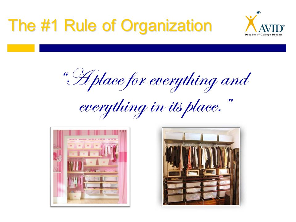 Find a Place For Other Items Sort the MOVE pile.Find a specific and logical place for each item.