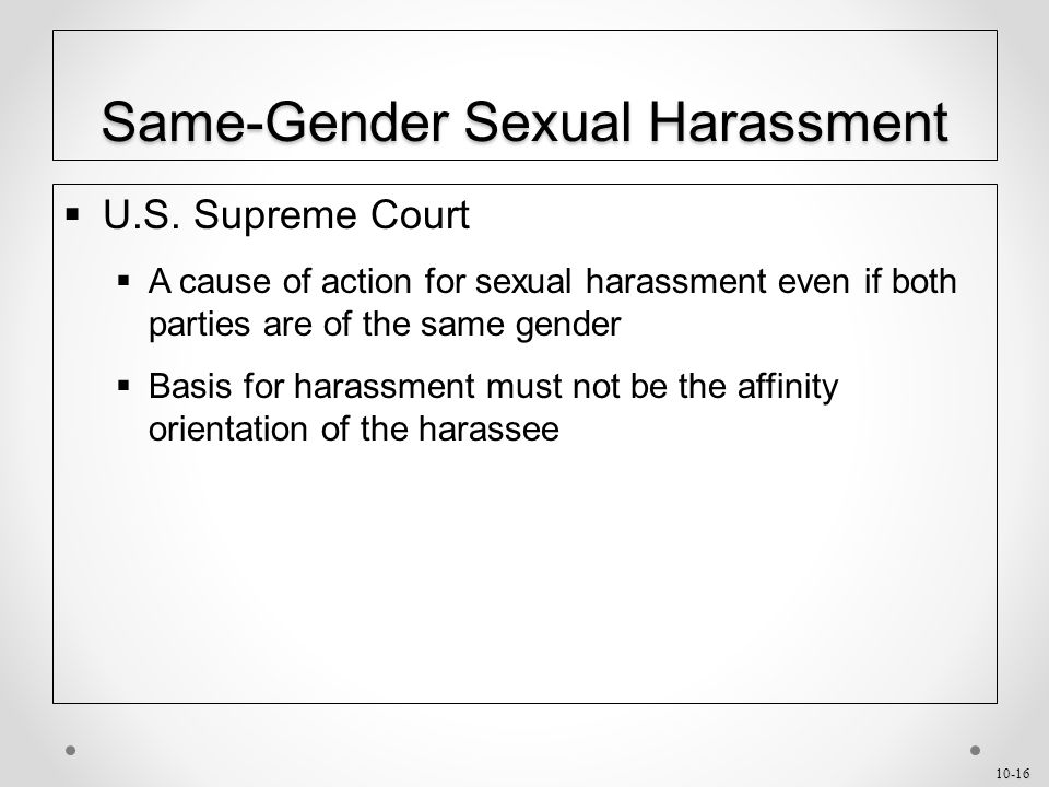 10-16 Same-Gender Sexual Harassment  U.S.