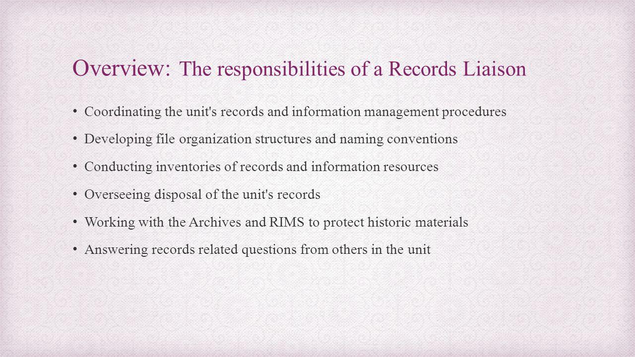 Lesson 2: Records Disposal 1.