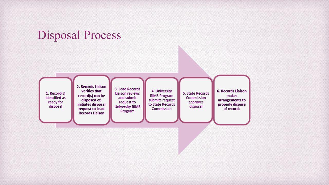 Disposal Process