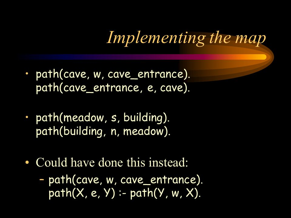 Implementing the map path(cave, w, cave_entrance).