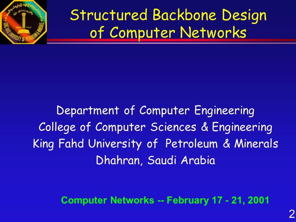 33 Atef J.Al-Najjar When are Backbones needed.