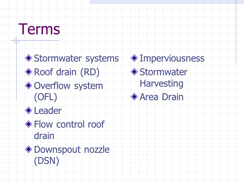 Strategies - Flow Control Roof Drain System