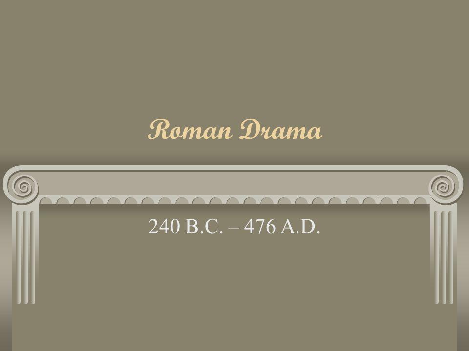 Roman Drama 240 B.C. – 476 A.D.