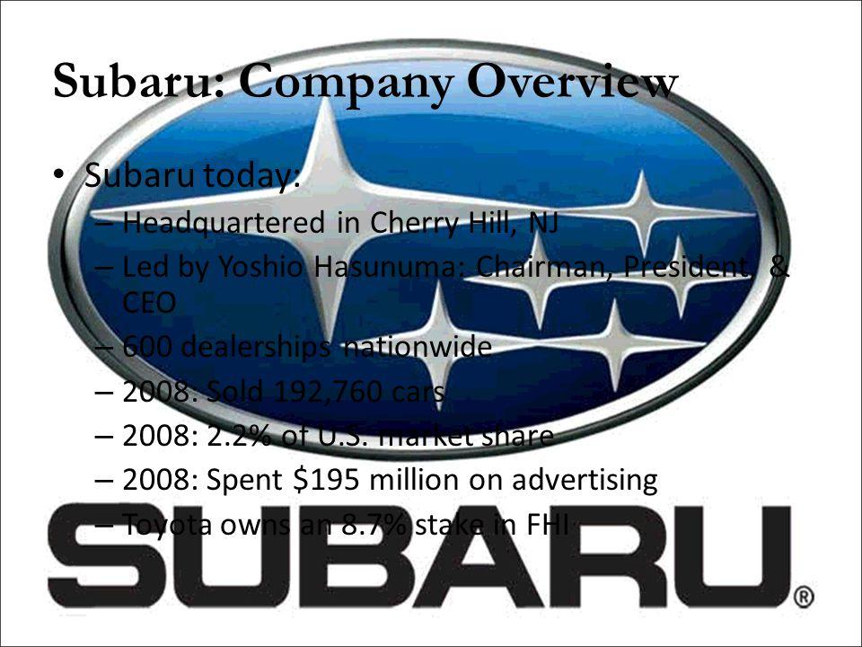 Subaru: Overview (Sales Figures)