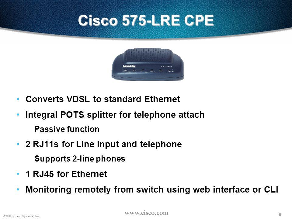 7 © 2000, Cisco Systems, Inc.