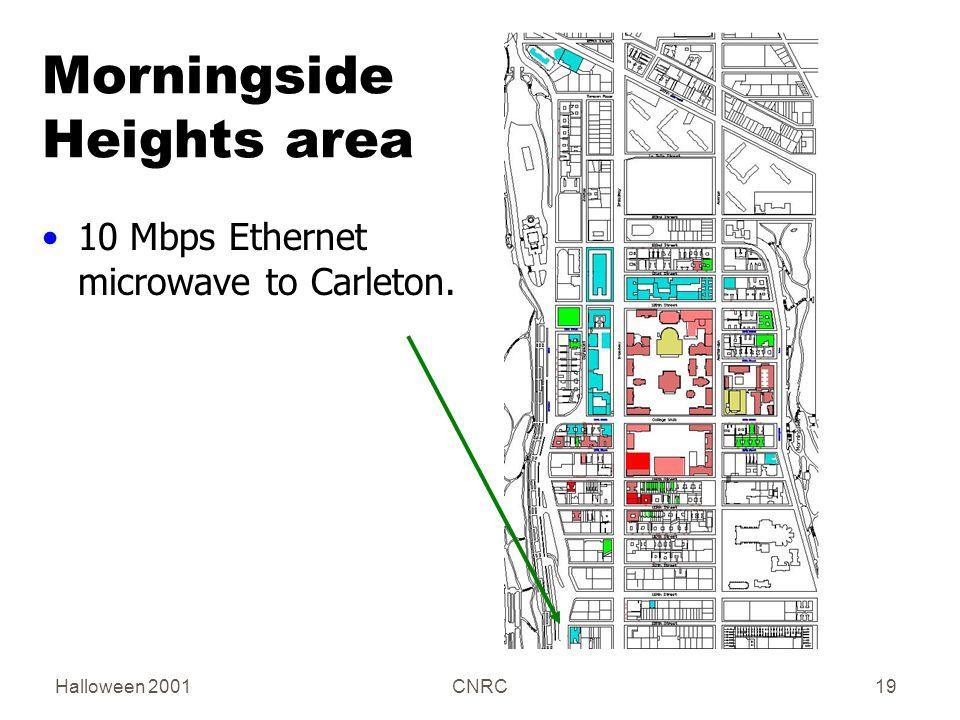 Halloween 2001CNRC19 Morningside Heights area 10 Mbps Ethernet microwave to Carleton.