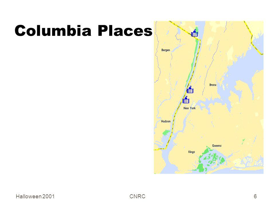 Halloween 2001CNRC6 Columbia Places