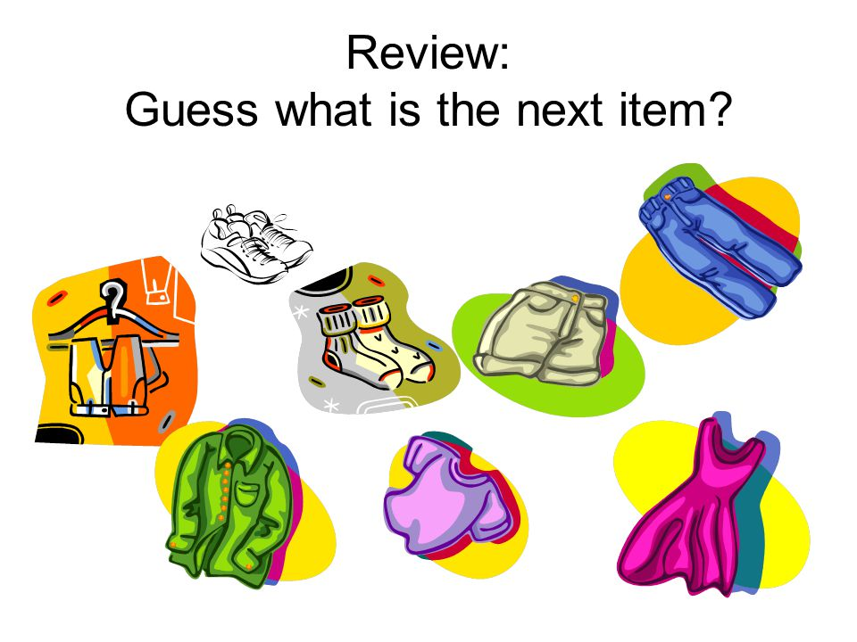 Review: Guess what is the next item