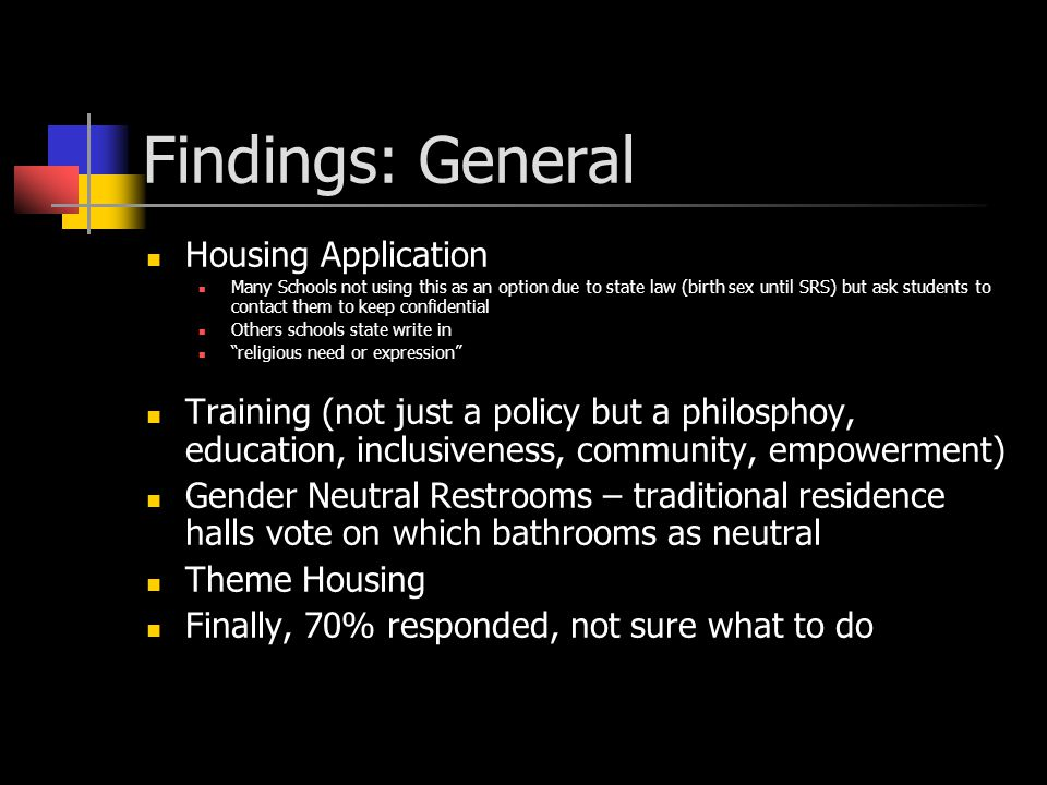 Housing – What Others are Doing Surveyed NHTI list serve, Mississippi State housing list serve, Neacuho, Macuho, & Random Director list serve Questions from the Quiz