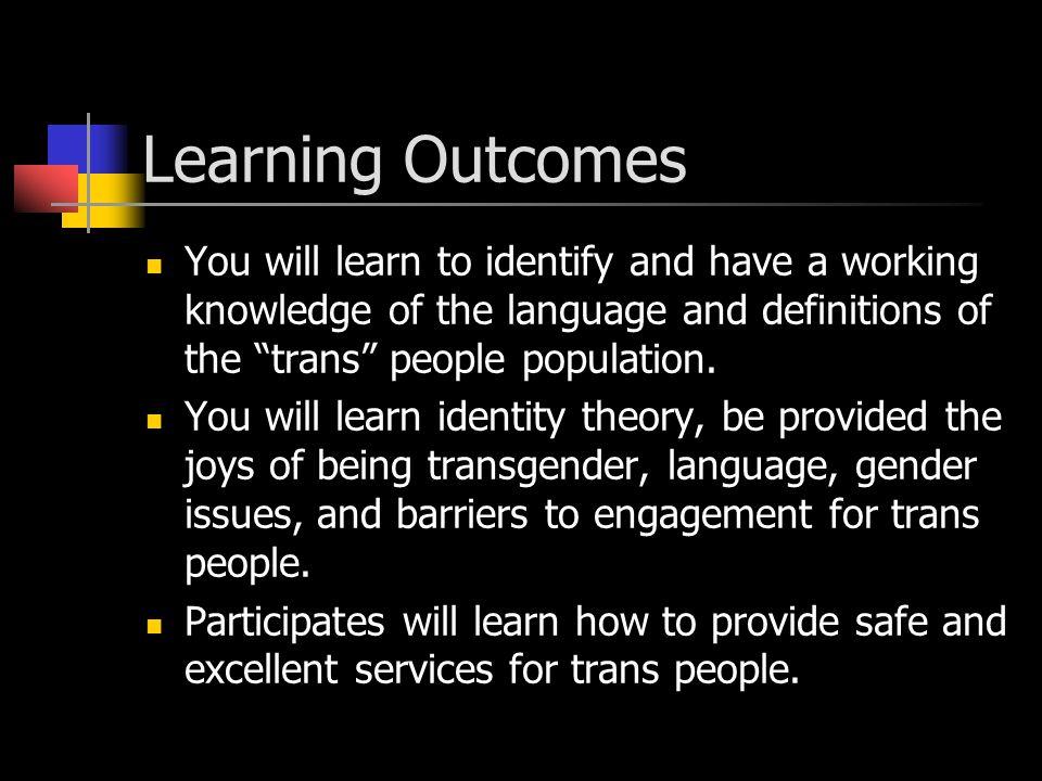 Program Outline I. Introductions II. Learning Outcomes III.