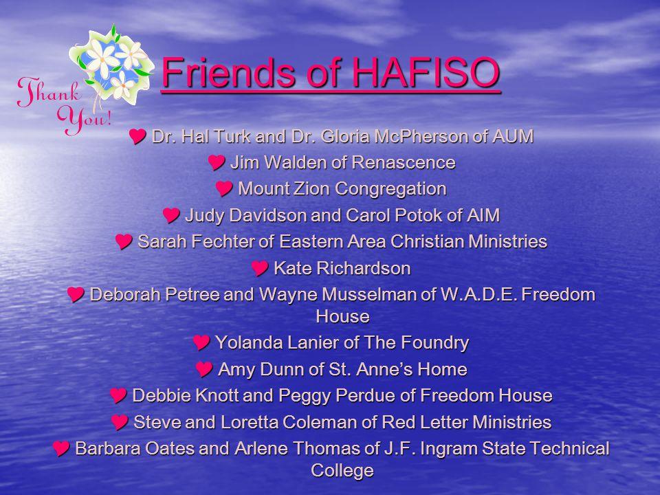 Volunteers of HAFISO  Tangya Warren  fawn Romine  Sharon Giddens  Dr.
