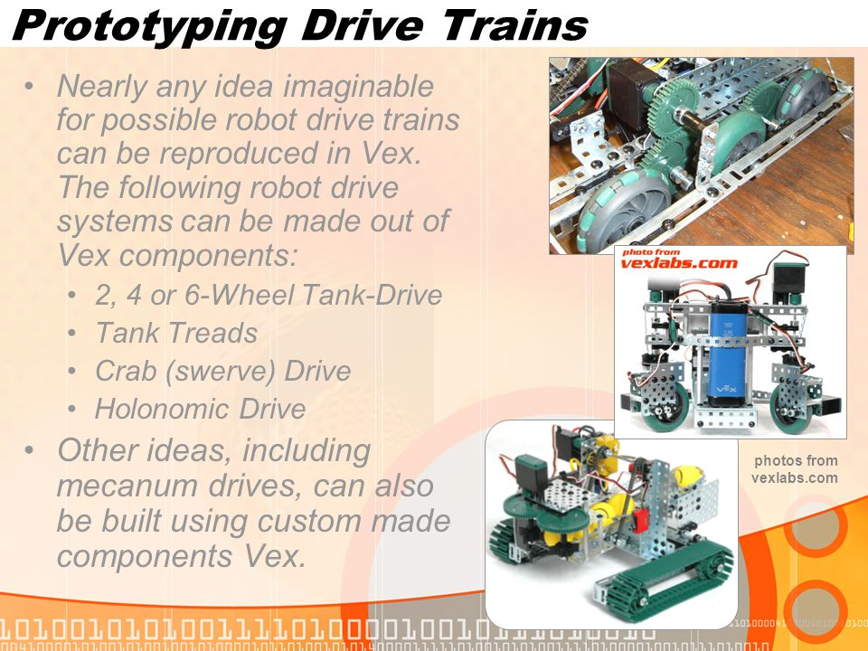 Prototyping Pneumatics As with the full-size robots, pneumatic components can also be used with Vex.