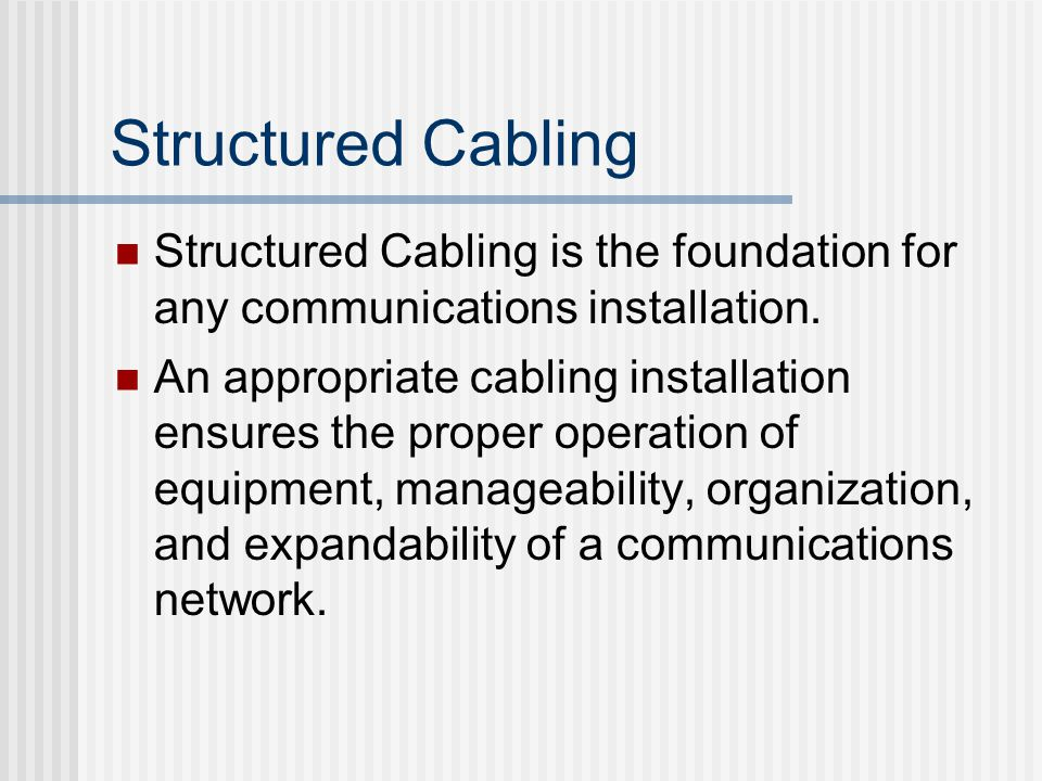  Maximum distance of horizontal cabling is 295 feet (90 meters).