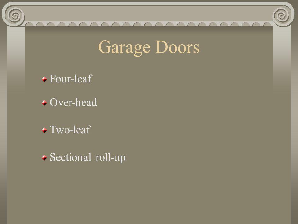 Garage 3 Basic types Integral Detached Carport