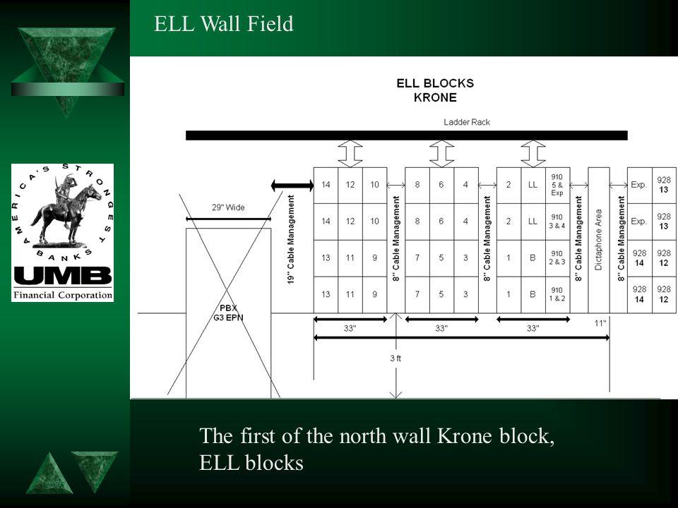 ELL Wall Field The first of the north wall Krone block, ELL blocks