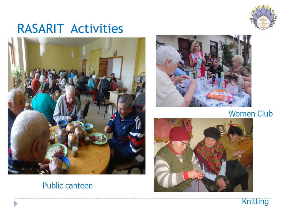 RASARIT Activities Public canteen Women Club Knitting