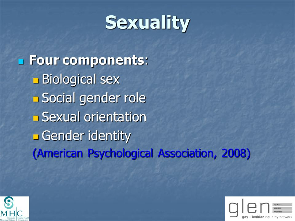 Sexual Orientation Sexual orientation is distinguished by an emotional, romantic, sexual or affectionate attraction to individuals of a particular sex.