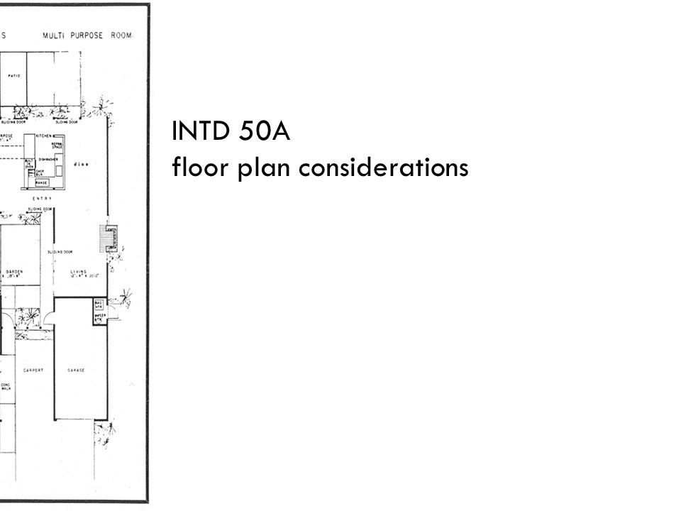 INTD 50A floor plan considerations