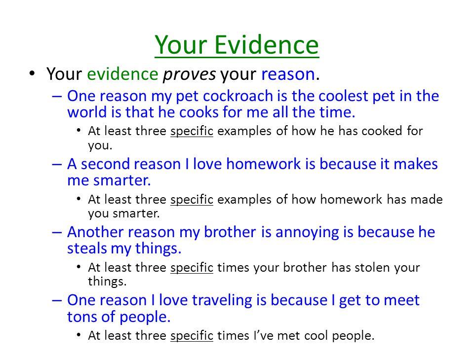 Adding Evidence