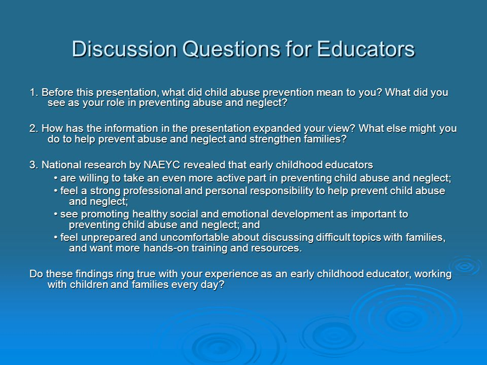 Discussion Questions for Educators 1.