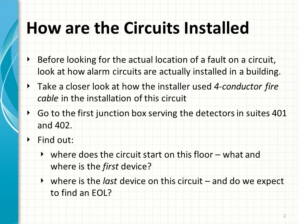 3 Fill In the Rest of the Circuit ‣ When we have a good idea of where the circuit arrives on the floor and where it ends, fill in the rest of the circuit run by using our eyes and common sense.