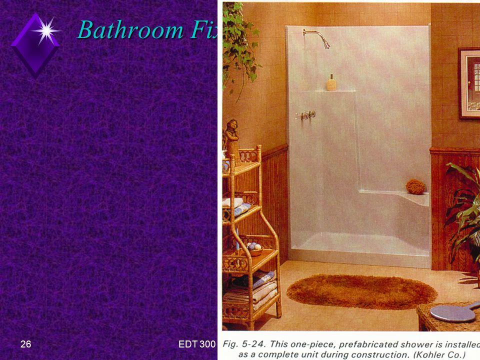 26EDT 300 - Floor Plan Design- Bathrooms Bathroom Fixtures-Showers