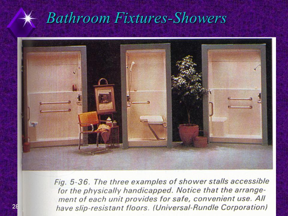 28EDT 300 - Floor Plan Design- Bathrooms Bathroom Fixtures-Showers