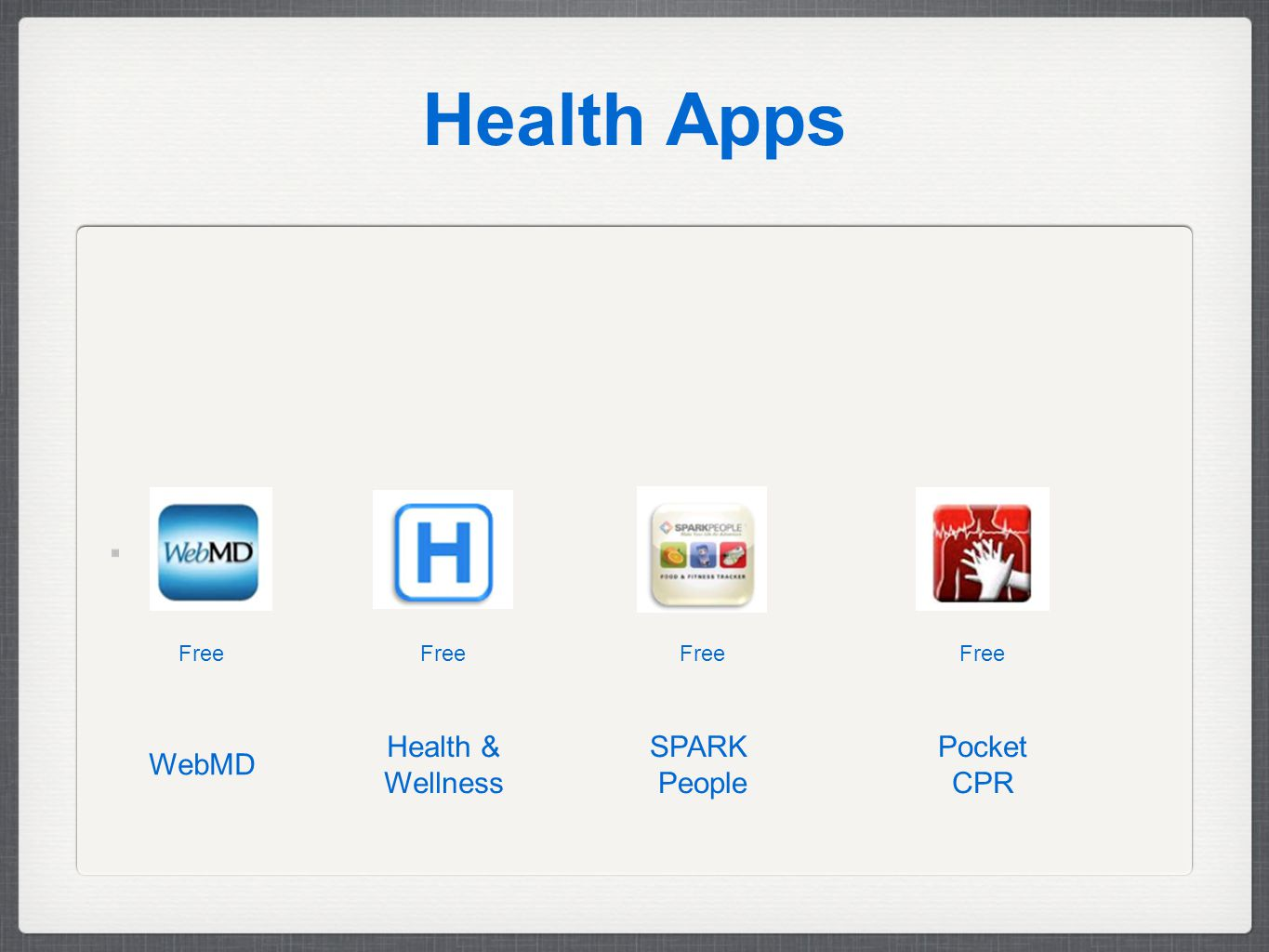 Health Apps Free Pocket CPR SPARK People Health & Wellness WebMD