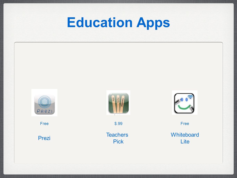 Education Apps Free$.99Free Whiteboard Lite Teachers Pick Prezi