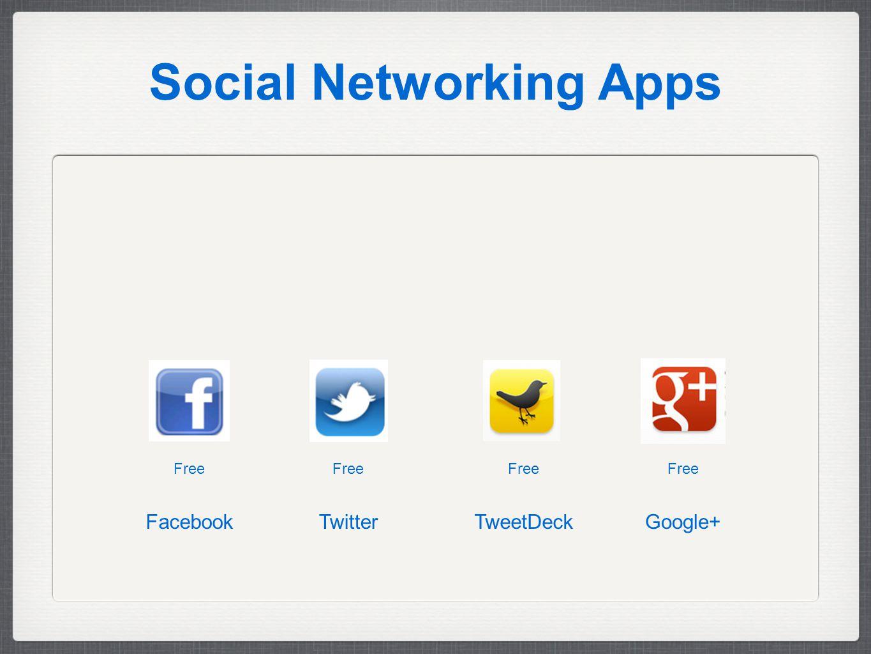 Social Networking Apps Free Google+TwitterFacebook Free TweetDeck