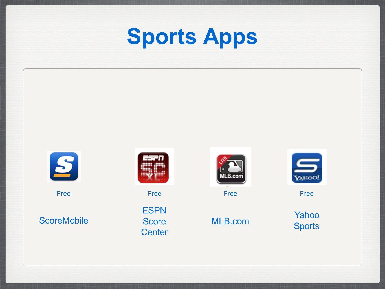 Sports Apps Free Yahoo Sports MLB.com ESPN Score Center ScoreMobile