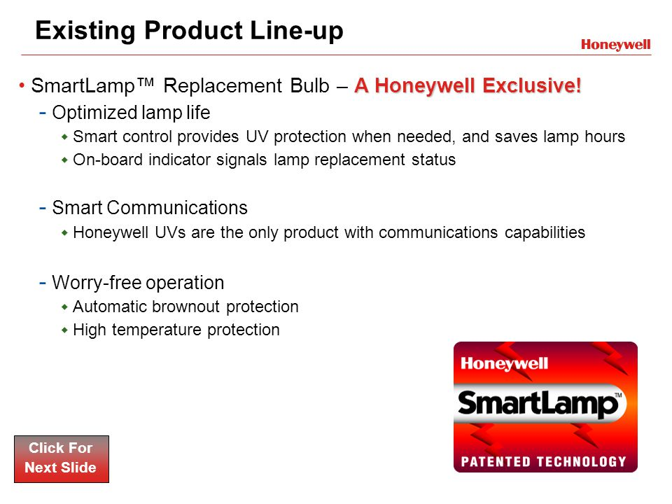 Existing Product Line-up AHoneywell Exclusive!SmartLamp™ Replacement Bulb – A Honeywell Exclusive.