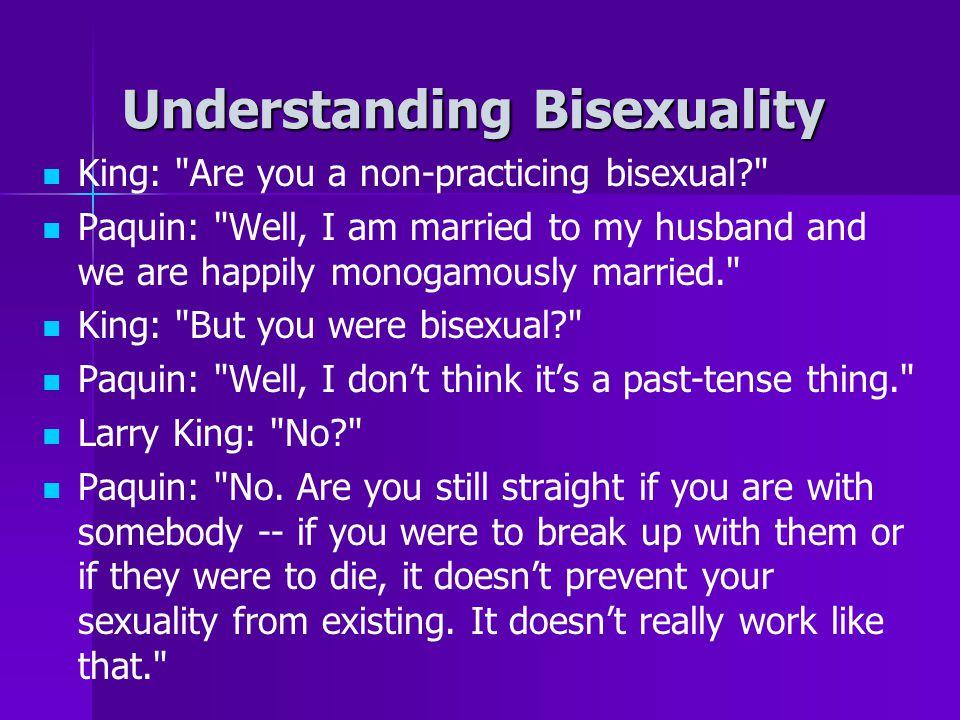 Understanding Bisexuality King:
