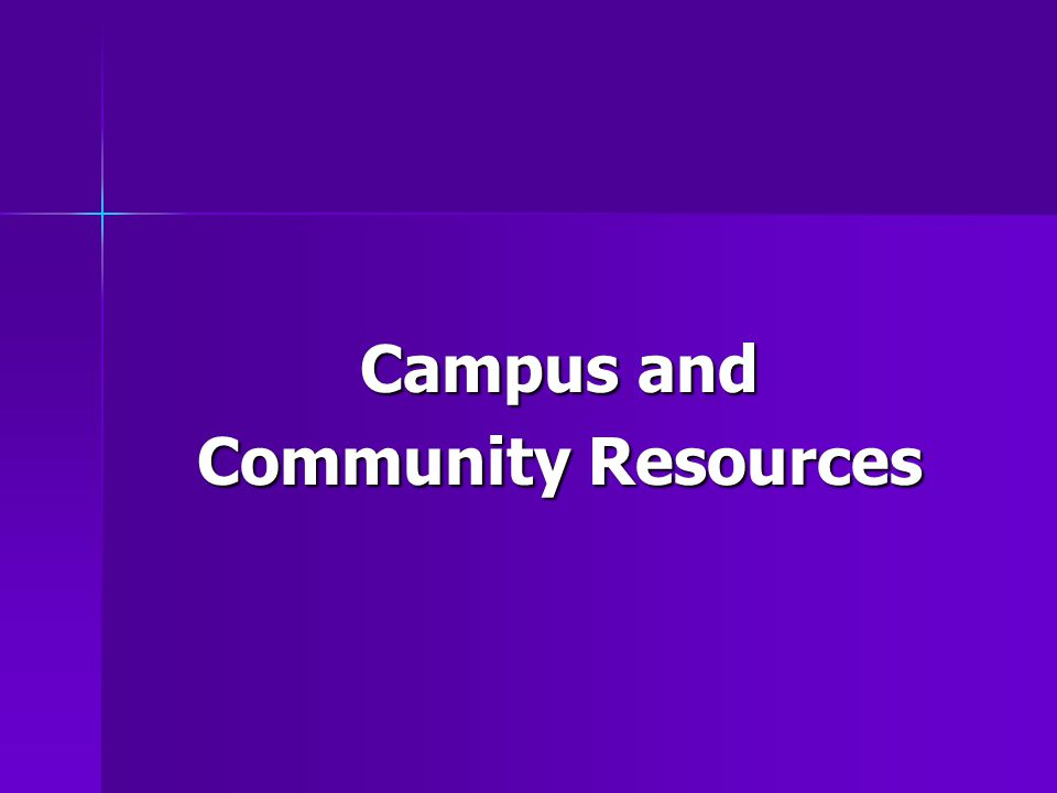 Campus and Community Resources