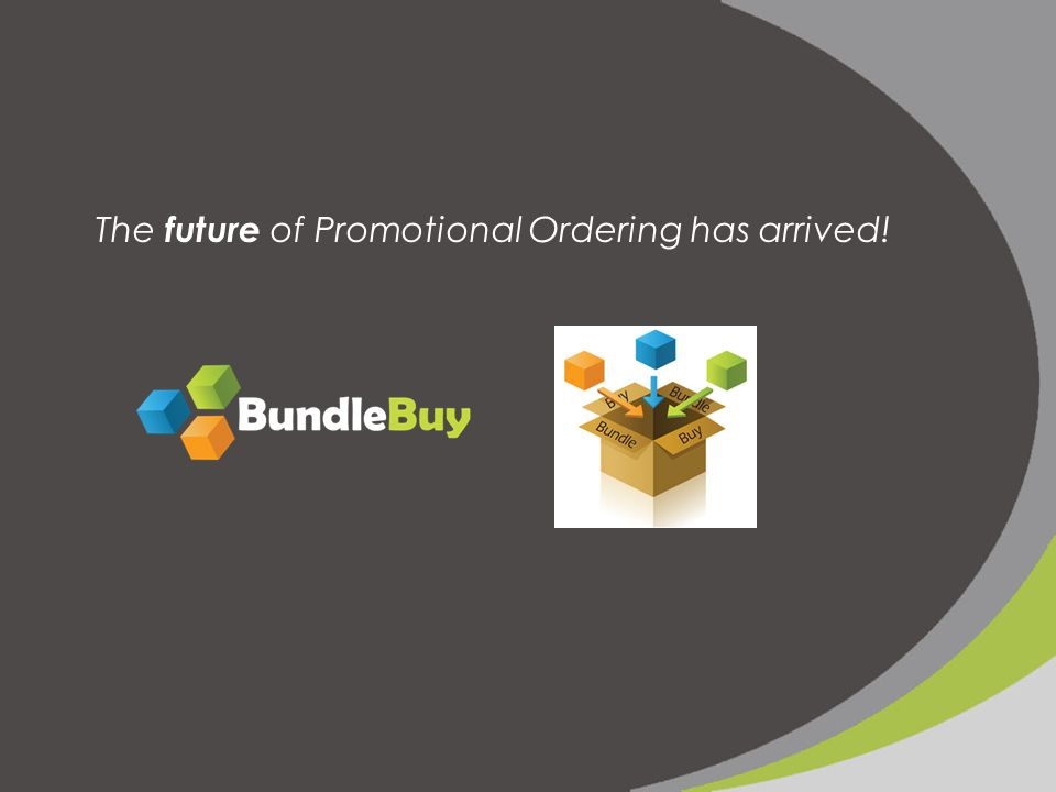 The future of Promotional Ordering has arrived!